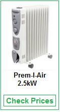 Prem-I-Air 2.5kW Model 11 Fin Oil Filled Radiator